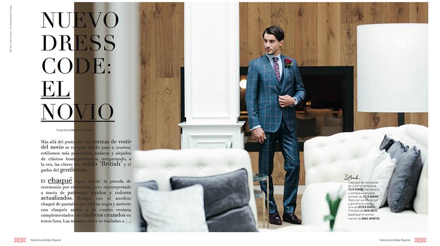 Prensa Parte 1 editorial Tendencias de Bodas Magazine Félix Ramiro