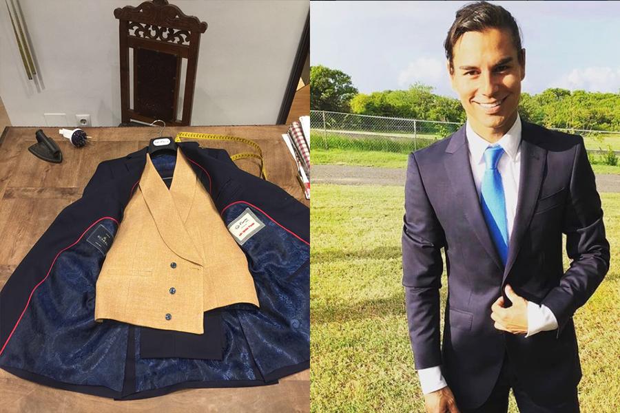 Julio Iglesias Jr viste un total look de Félix Ramiro para la boda de su hermana