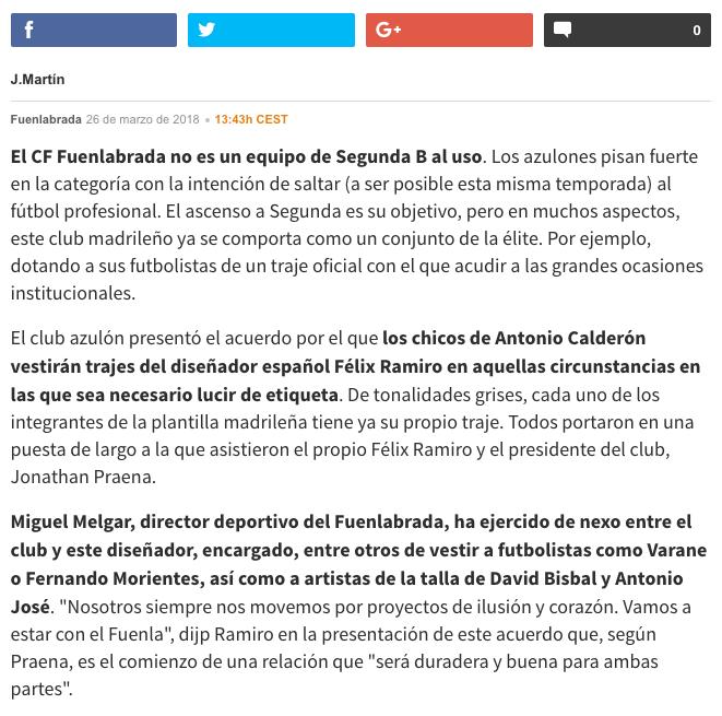 Prensa noticia AS parte 2 fuenlabrada C.F Félix Ramiro