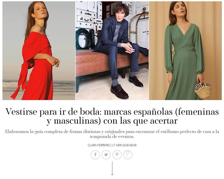 Prensa artículo S Moda Principal vestirse para ir de boda Félix Ramiro