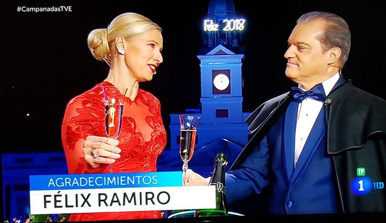 Prensa aparición en Campanadas 2018 de La 1 de TVE Ramón García Félix Ramiro