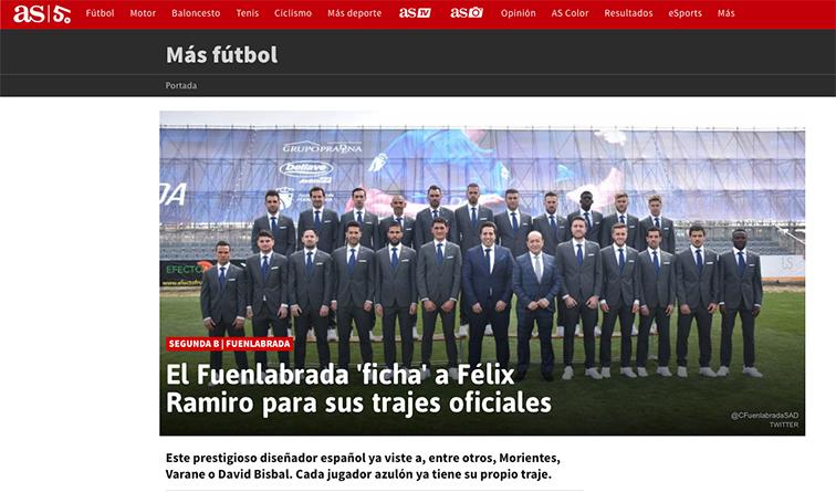 Prensa noticia AS parte 1 fuenlabrada C.F Félix Ramiro