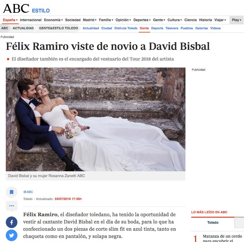 ABC prensa David Bisbal Félix Ramiro