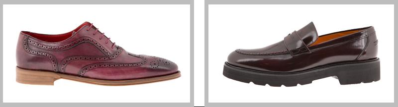 Zapatos tono burgundy