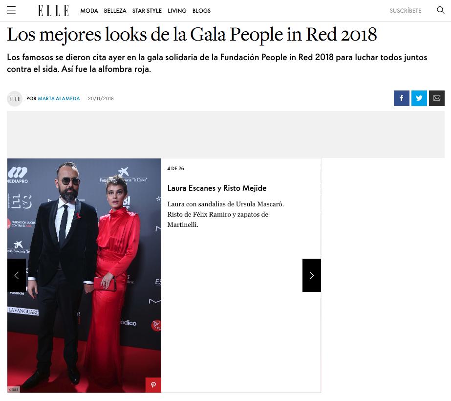Prensa Elle Risto Mejide People in red Félix Ramiro